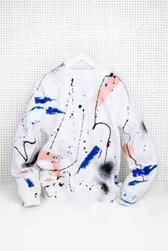 A splatter-painted sweatshirt in the perfect palette