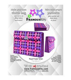Framous Kits-Royal Purple Tartan Clutch Framous Plastic Canvas Kit