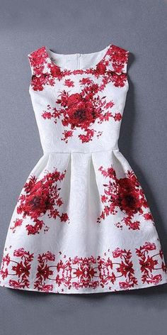 Fetching White And Red Creap Kurti.