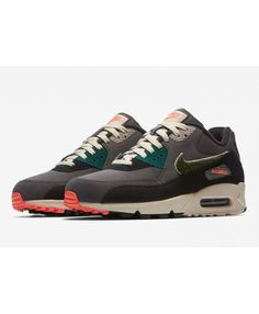 sale retailer 5c303 87d74 Nike Air Max 90 Premium Se Rain Forest With Chenille Trainer Clearance