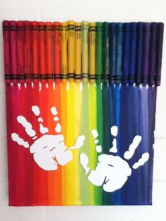 Hand or Feet: Trace your child/baby's hand or feet OR cover hands/feet with white latex craft paint. DO THIS WITH LINK'S HANDS or FEET!!!