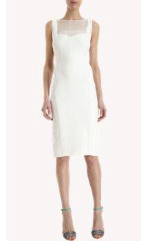 Narciso Rodriguez Sheer Inset Sleeveless Dress