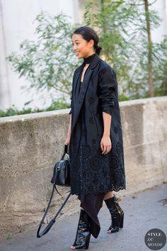 Margaret Zhang at Paris Fashion Week SS 2016 by STYLEDUMONDE