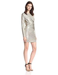 Olive & Oak Women's Melange Foil Jersey Long Sleeve Dress