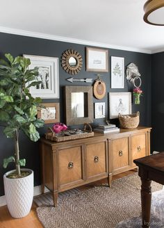 A great choice for a soft black paint color that isn't too harsh! Click through for more info about Benjamin Moore Nightfall to see if it's the right paint color for you!