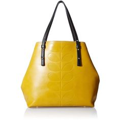 Orla Kiely Embossed Leather Willow Tote Bag ($441) ❤ liked on Polyvore featuring bags, handbags, tote bags, totes, embossed leather tote, leather handbag tote, genuine leather purse, structured tote and leather handbags