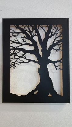 For grandma. Tree canvas cutout