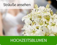 Hochzeitsblumen beim bundesweiten Blumenversand http://blumen-verschenken.eu/hochzeitsblumen/