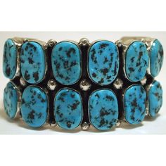 Navajo Sleeping Beauty Turquoise Sterling Silver Cuff Bracelet Mary... ❤ liked on Polyvore featuring jewelry, bracelets, navajo cuff bracelet, hinged cuff bracelet, sterling silver jewellery, navajo sterling silver jewelry and sterling silver cuff bangle