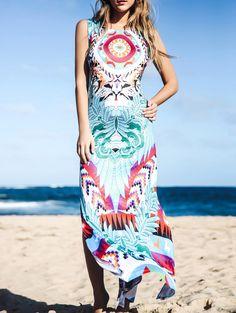 Chic Furcal Colorful Bohemia Tank Dress For Women