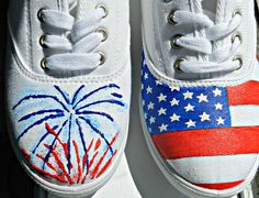 4th of July hand painted shoes. via Etsy //repinned from Amanda Lawrence