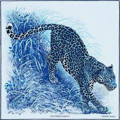 "Carré Hermès  -  ""Panthera Pardus"""