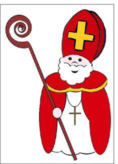 Carte Dessin de saint nicolas pour envoyer par La Poste, sur Merci-Facteur ! #SaintNicolas #StNicolas #carte http://www.merci-facteur.com/carte-saint-nicolas.html