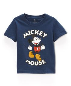 Loving this Washed Navy Mickey Tee - Infant & Toddler on #zulily! #zulilyfinds