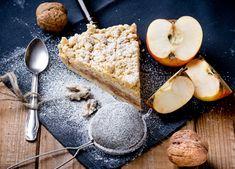Almáspite másképp Vegan Blog, Apple Slab Pie, Recipies, Dairy, Cheese, Sweet, Food, Vegan Apple Cake, Sweet Desserts