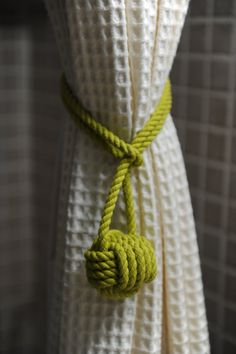 Lime Green Curtain Tie Back this is for a pair of knots by OYKNOT Lime Green Curtains, Bedroom Ideas, Bedroom Decor, Curtain Tie Backs, Awesome Bedrooms, Baby Boys, Window Treatments, Living Rooms, Knots