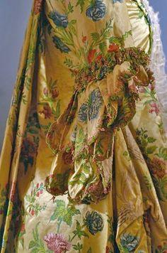 Pagoda Sleeve (Detail) of a Robe à la Française -- 1740 -- France