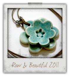 Inspiration for jewellery making-Beautiful handmade ceramic pendants