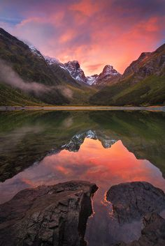 Lake Mackenzie, New Zealand.