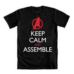 """this """"keep calm"""" thing is starting to get a bit overused, but I'd still wear this Avengers tee"""