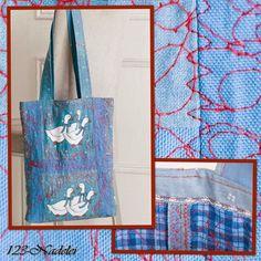 123-Nadelei: Quiltübungen am Gänsebeutel, Stofftasche, Stoffbeutel, Tasche, bag, tote, marketbag, nähen, sew, Geschenk, gift, present, Plastik vermeiden, no plastik, Stoff, fabric, cloth, Baumwolle,