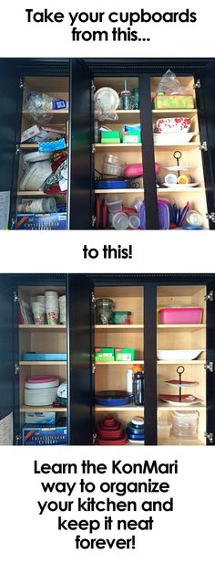 Are your kitchen cupboards booby-trapped? Solve your kitchen woes once and for all with the revolutionary KonMari system for organization!