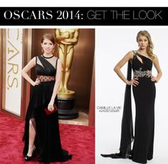 Anna Kendrick Oscar 2014 Dress vs. Camille La Vie One Shoulder Prom Dress with Beaded Waist