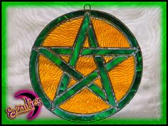For our Witchy friends, Erzulie's Wealth and Prosperity stained glass pentacle...