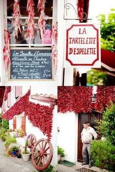 Espelette, France Basque Country drying peppers - our Amachi dried them in her basement, still remember the smell