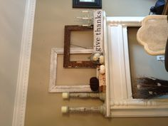 Fall mantle in Dining Room.