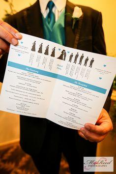 wedding and reception program