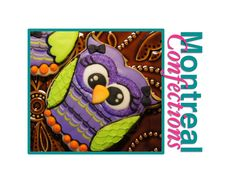 Halloween Cookie decorating - royal icing owl for Halloween cookie