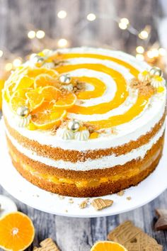 Rezepte: Kuchen & Torten Here you will find a simple recipe for a Christmas mandarin cake with a fin Mandarin Cake, Berry Smoothie Recipe, Easy Smoothie Recipes, Healthy Recipes, Tart Recipes, Dessert Recipes, Cheesecake Recipes, Cupcake Recipes, Cooking