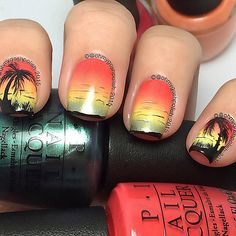 OPI Go With The Lava Flow, Aloha From OPI, Is Mai Tai Crooked?, This Color's Making Waves (2015 Hawaii Collection), I Just Can't Cope-Acabana (2014 Brazil Collection) ; 2/24/15 ; ohmygoshpolish