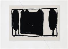 Eau-forte et aquatinte - Joan Hernandez pijuan - Arbres i Casa II.