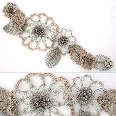 crochet, flower, wire