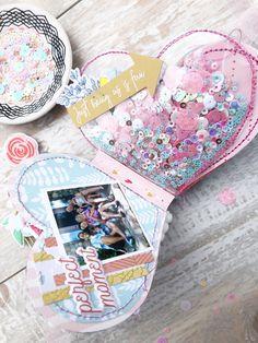 All Heart Eyes for this Mini Album – Hip Kit Club Diy Mini Album, Mini Album Tutorial, Mini Albums Scrap, Project Life Scrapbook, Mini Scrapbook Albums, Bridal Shower Scrapbook, Hip Kit Club, Mini Books, Flip Books