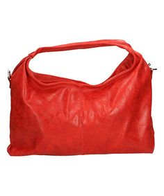 Red Leather Hobo Bag #zulilyfinds