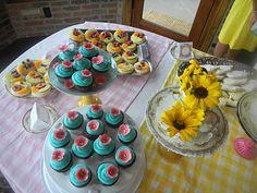 garden party desserts