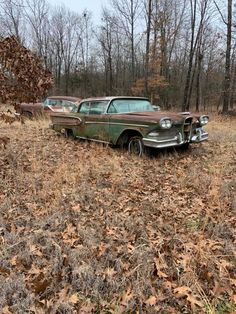 Edsel Ford, Ford Granada, Junk Yard, Rusty Cars, Abandoned Cars, Henry Ford, Yard Art, Old Cars, Tractors