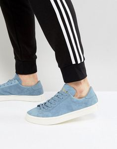 adidas Originals Court Vantage Sneakers In Blue BZ0431 - Blue