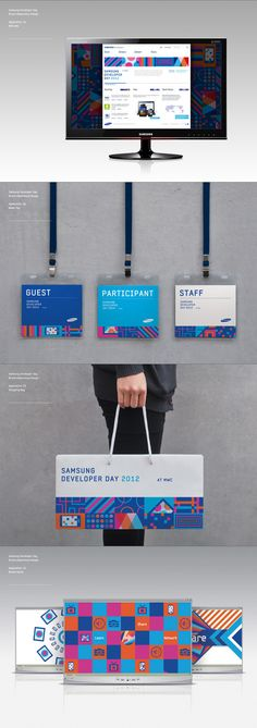 Samsung Developers Brand eXperience Design on Behance tag # tote branding Poster Sport, Poster Cars, Poster Retro, Design Food, Id Design, Logo Design, Brand Design, Design Model, Creative Design