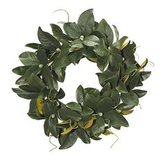 The warmth of this wreath has us eager for sweaters and a warm toasty fire! Often used as a sign of welcoming, this wreath is perfect to get your front door ready for visitors.