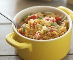 one-pan mediterranean quinoa (no parmesan - vegan option)