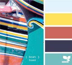 A few color palettes using blue