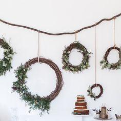 Beth Kirby @local_milk My DIY wreath wall