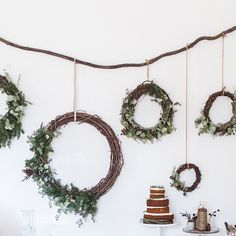 """""""My DIY wreath wall cheers me up every time I look at it. There's been a thick grey cloud cover for days & the fire hasn't stopped crackling in the hearth.…"""" via local_milk on instagram"""