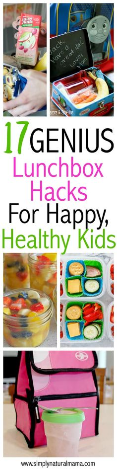 Lunch hacks for healthy, happy kids!