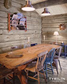 Si farvel til gulnet panel i påsken - Bygger´n Cabin Homes, Log Homes, Oh My Home, Living Spaces Furniture, Pine Table, Cabin Kitchens, Timber House, Cottage Interiors, Cottage Design