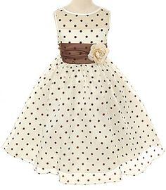 Kids Dream Girls 2T Ivory Brown Organza Dot Flower Girl Easter Dress Kids Dream,http://www.amazon.com/dp/B00BT0G50O/ref=cm_sw_r_pi_dp_jRqzsb0S9YJ2P2HV